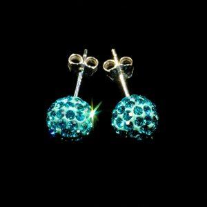 Teal Stud Earrings