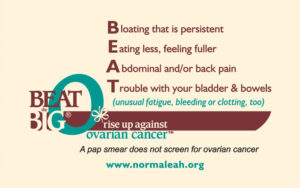 BEAT the BIG O symptom card